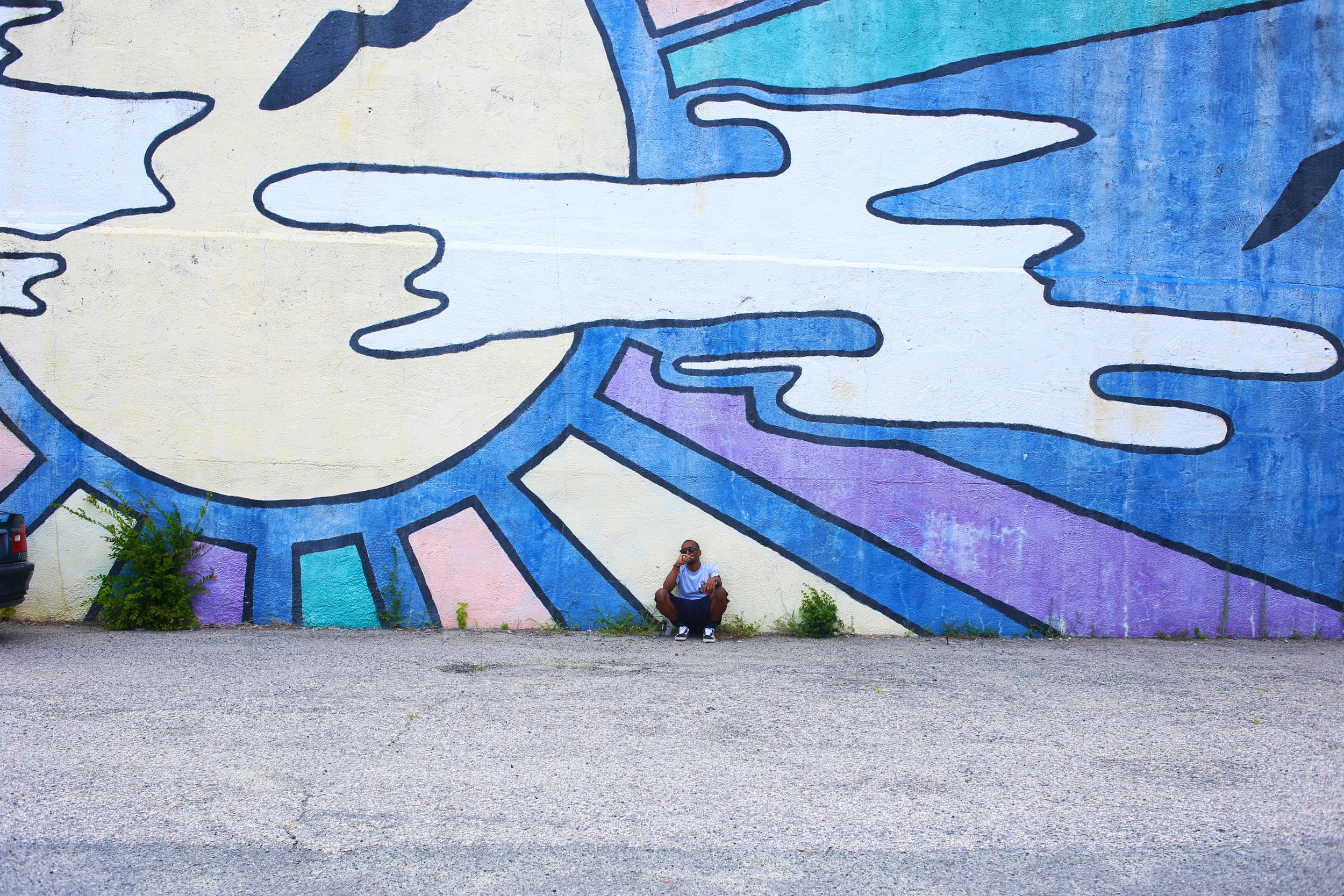 Street art in Downtown Durham, NC.