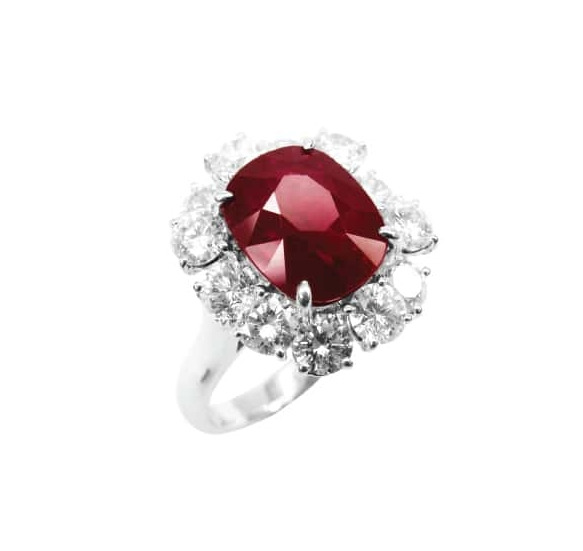 RUBY & DIAMOND RING BESPOKE FINE JEWELLERY BY SHAHINA HATTA