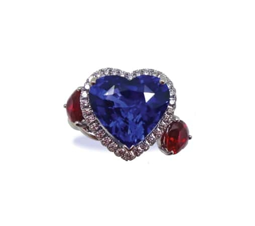 BLUE SAPPHIRE & RUBY RING BESPOKE FINE JEWELLERY BY SHAHINA HATTA