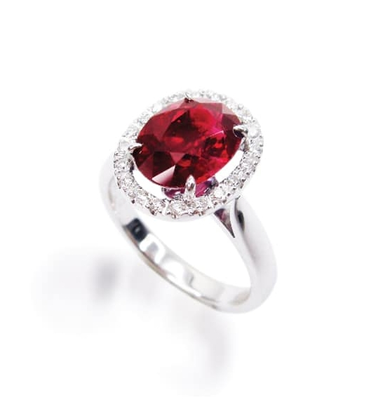 RUBY AND DIAMOND RING BESPOKE FINE JEWELLERY BY SHAHINA HATTA