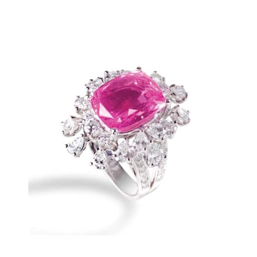 PINK SAPPHIRE & DIAMOND RING BESPOKE FINE JEWELLERY BY SHAHINA HATTA