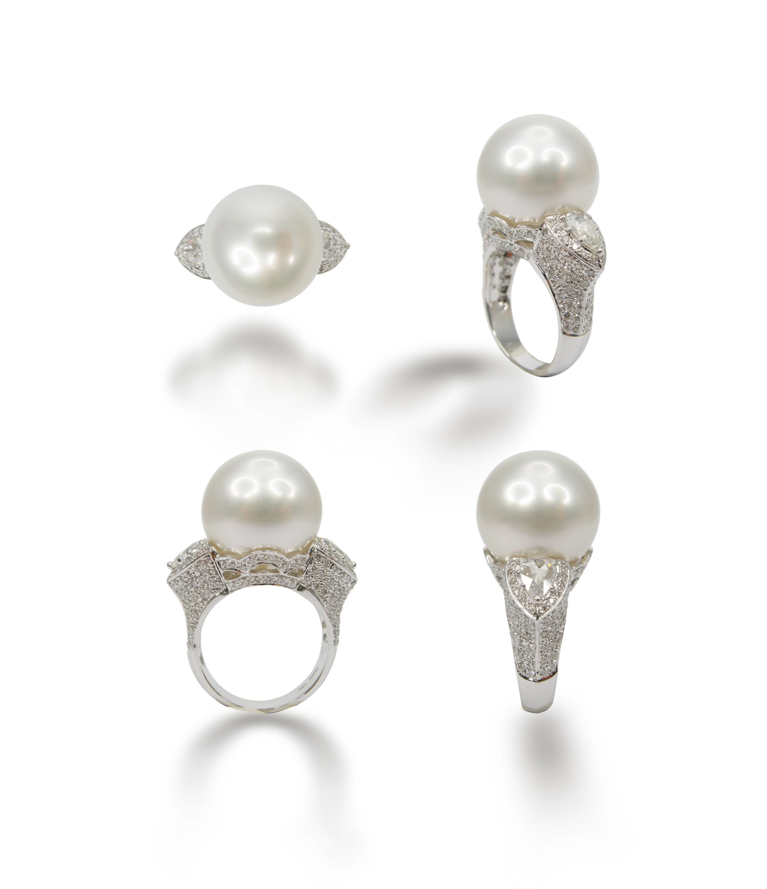 WHITE SOUTH SEA PEARL RING BESPOKE FINE JEWELLERY BY SHAHINA HATTA