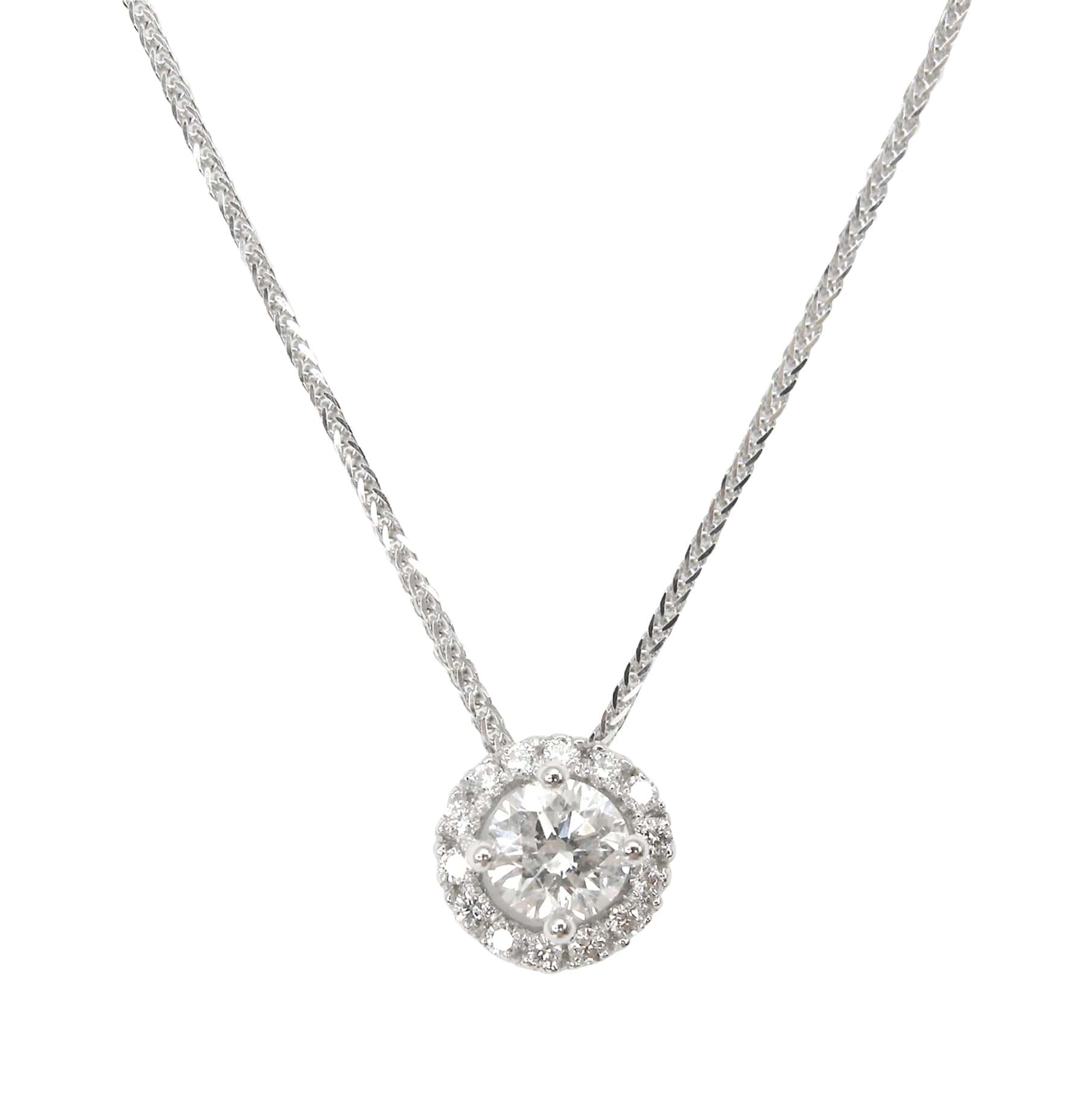 DIAMOND WITH HALO PENDANT BESPOKE FINE JEWELLERY BY SHAHINA HATTA