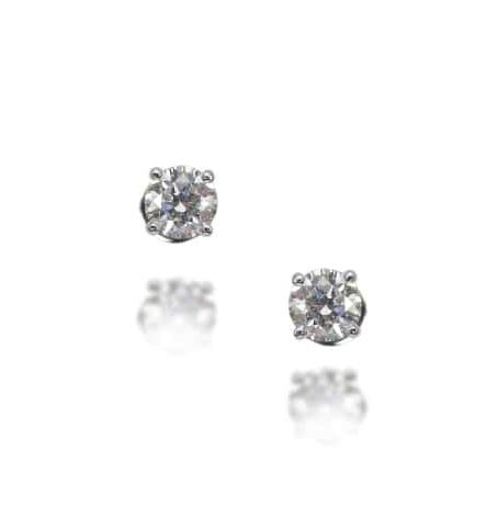 DIAMOND STUD EARRINGS BESPOKE FINE JEWELLERY BY SHAHINA HATTA