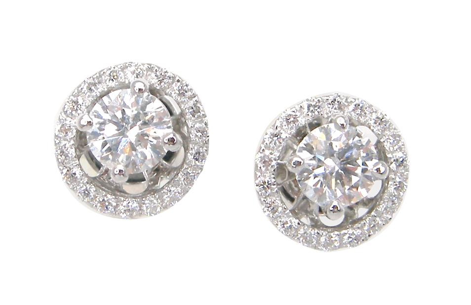 DIAMOND SOLITAIRE STUD EARRINGS WITH REMOVABLE JACKETS BESPOKE FINE JEWELLERY BY SHAHINA HATTA