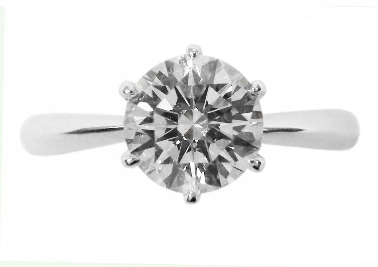 SIX CLAW SOLITAIRE DIAMOND RING BESPOKE FINE JEWELLERY BY SHAHINA HATTA