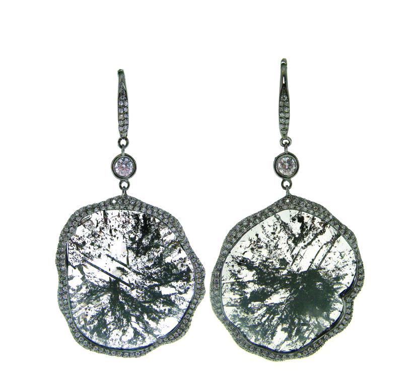 SLICE DIAMOND DROP EARRINGS BESPOKE FINE JEWELLERY BY SHAHINA HATTA