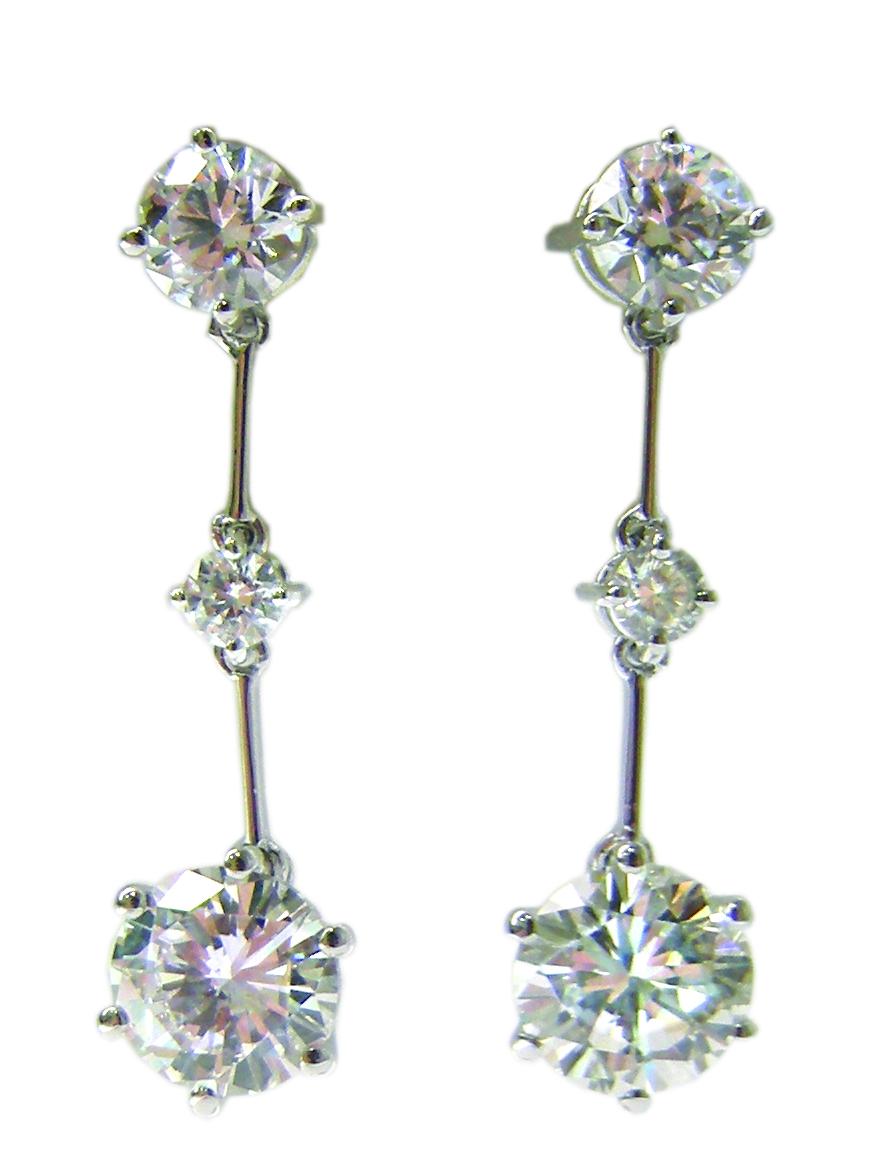 DOT DASH DIAMOND DROP EARRINGS BESPOKE FINE JEWELLERY BY SHAHINA HATTA