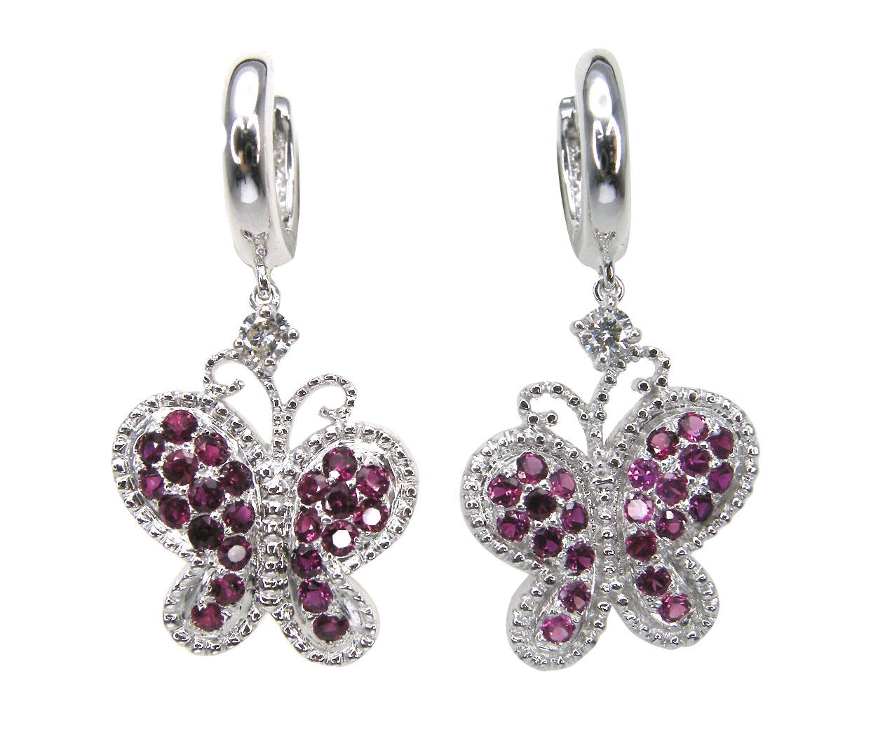 SIGNATURE RUBY BUTTERFLY EARRINGS CLUSTER DIAMOND PENDANT BESPOKE FINE JEWELLERY BY SHAHINA HATTA