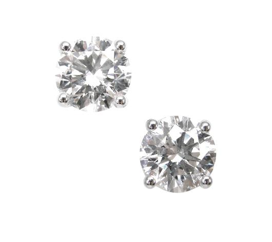 FOUR CLAW DIAMOND STUD EARRINGS BESPOKE FINE JEWELLERY BY SHAHINA HATTA