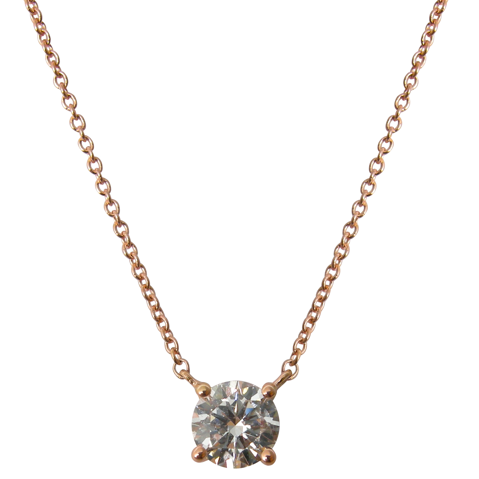 FOUR CLAW DIAMOND SOLITAIRE NECKLACE CLUSTER DIAMOND PENDANT BESPOKE FINE JEWELLERY BY SHAHINA HATTA