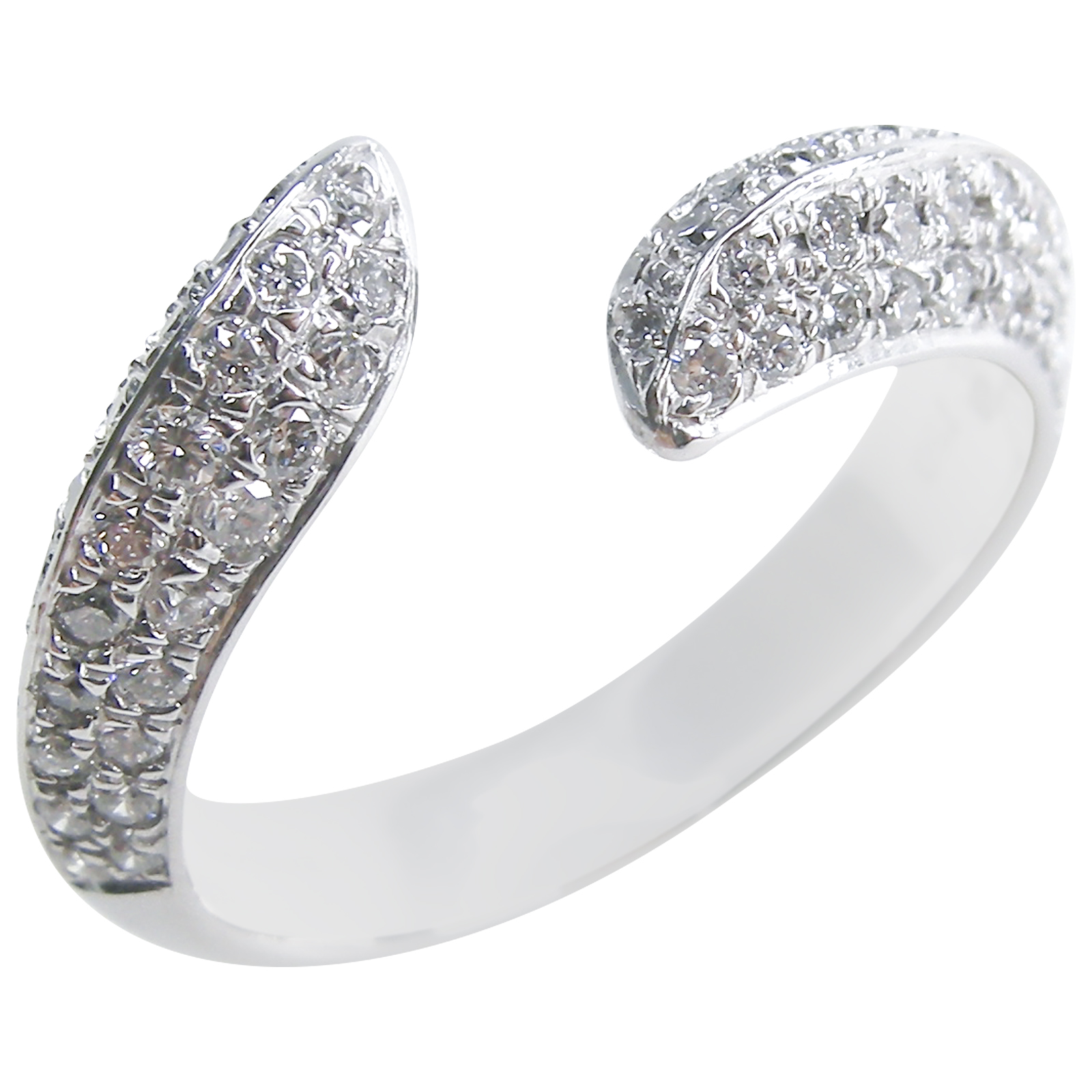DIAMOND WAVE RING BESPOKE FINE JEWELLERY BY SHAHINA HATTA