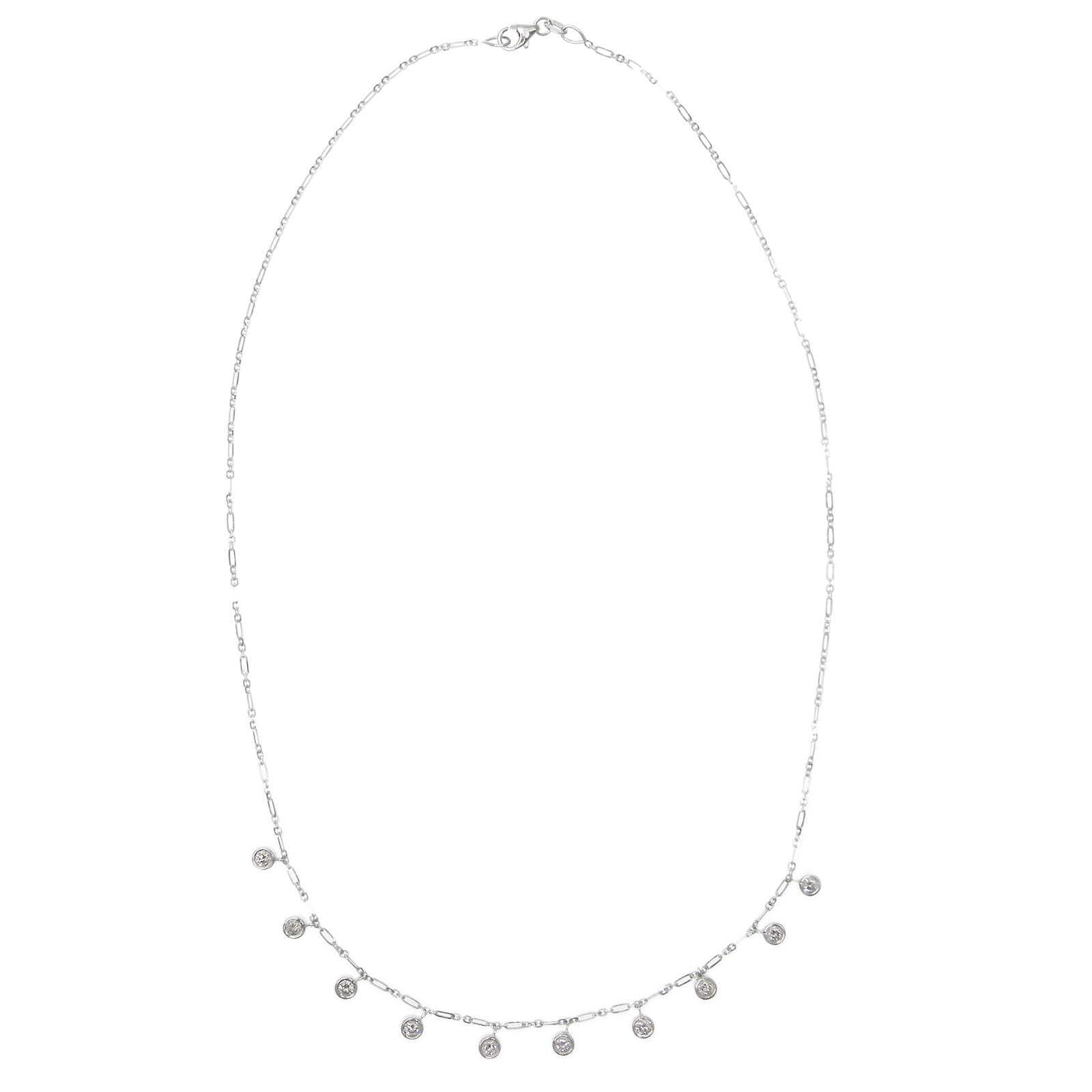 SIGNATURE DIAMOND DANGLE NECKLACE CLUSTER DIAMOND PENDANT BESPOKE FINE JEWELLERY BY SHAHINA HATTA