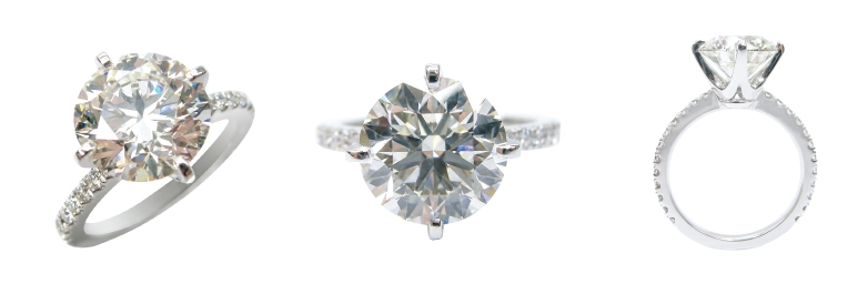 FOUR CLAW COMPASS SETTING DIAMOND SOLITAIRE BESPOKE FINE JEWELLERY BY SHAHINA HATTA