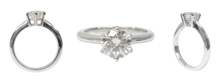 SIX CLAW DIAMOND SOLITAIRE BASKET SETTING BESPOKE FINE JEWELLERY BY SHAHINA HATTA
