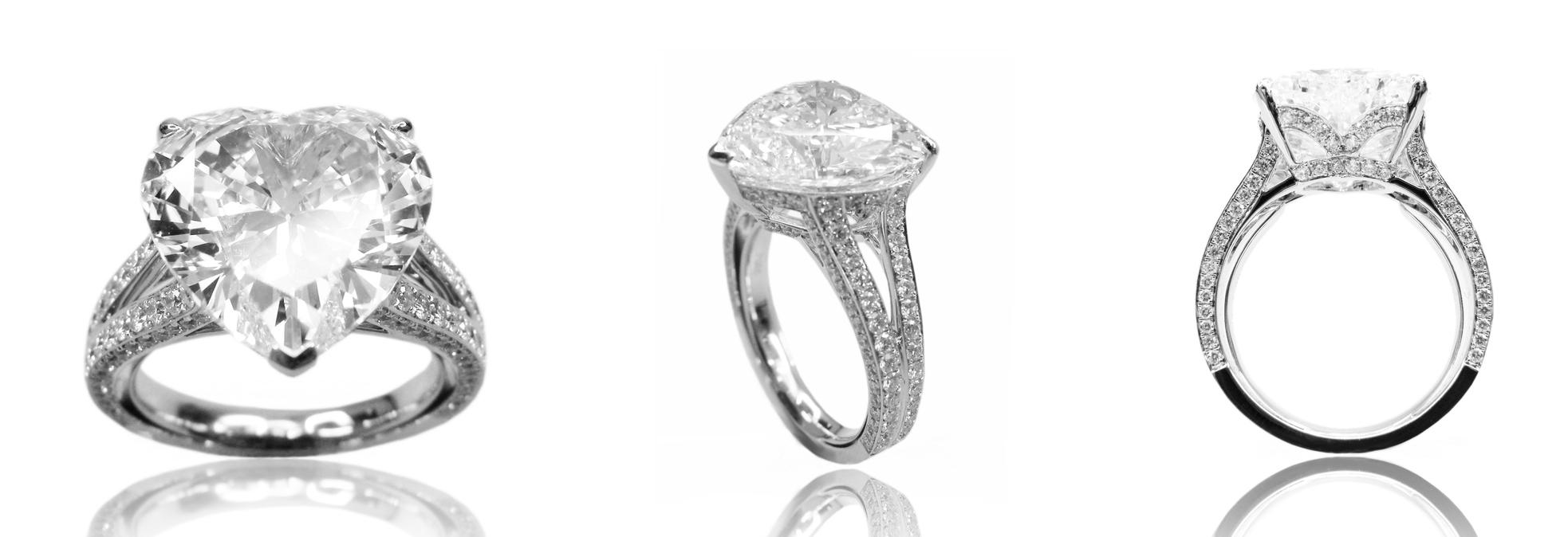 HEART SHAPE DIAMOND SOLITAIRE BESPOKE FINE JEWELLERY BY SHAHINA HATTA