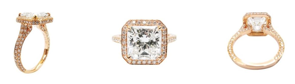 WONDERCUT DIAMOND FLOATING RING BESPOKE FINE JEWELLERY BY SHAHINA HATTA