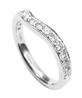CURVED DIAMOND BAND RING BESPOKE FINE JEWELLERY BY SHAHINA HATTA