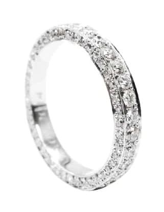 THREE DIAMOND EDGE ETERNITY RING BESPOKE FINE JEWELLERY BY SHAHINA HATTA
