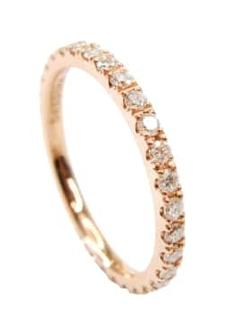 ROSE GOLD DIAMOND ETERNITY RING BESPOKE FINE JEWELLERY BY SHAHINA HATTA