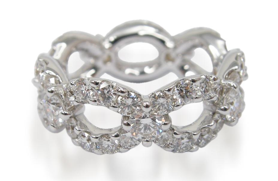 DIAMOND LINK ETERNITY RING BESPOKE FINE JEWELLERY BY SHAHINA HATTA