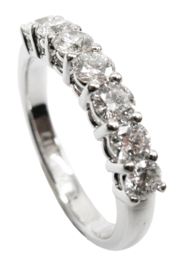 SEVEN STONE DIAMOND RING BESPOKE FINE JEWELLERY BY SHAHINA HATTA