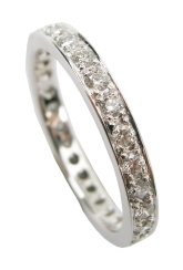 DIAMOND ETERNITY RING WITH GOLD EDGE BESPOKE FINE JEWELLERY BY SHAHINA HATTA