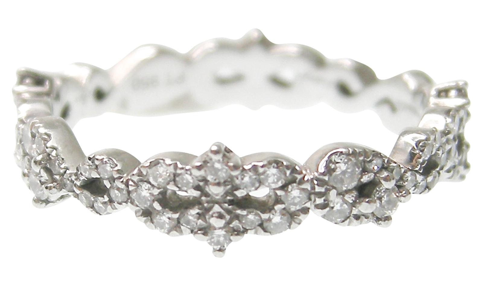 DIAMOND ETERNITY BAND ANTIQUE STYLE BESPOKE FINE JEWELLERY BY SHAHINA HATTA