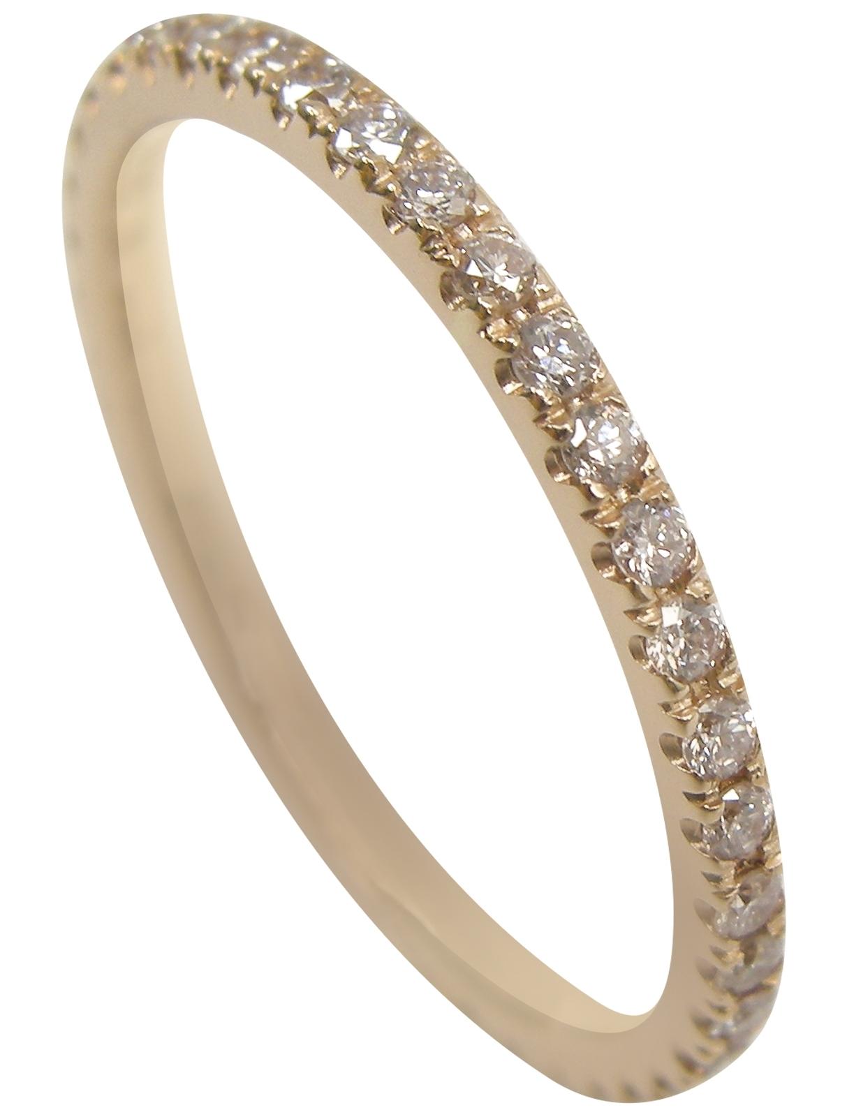 PINK DIAMOND & ROSE GOLD DIAMOND ETERNITY RING BESPOKE FINE JEWELLERY BY SHAHINA HATTA