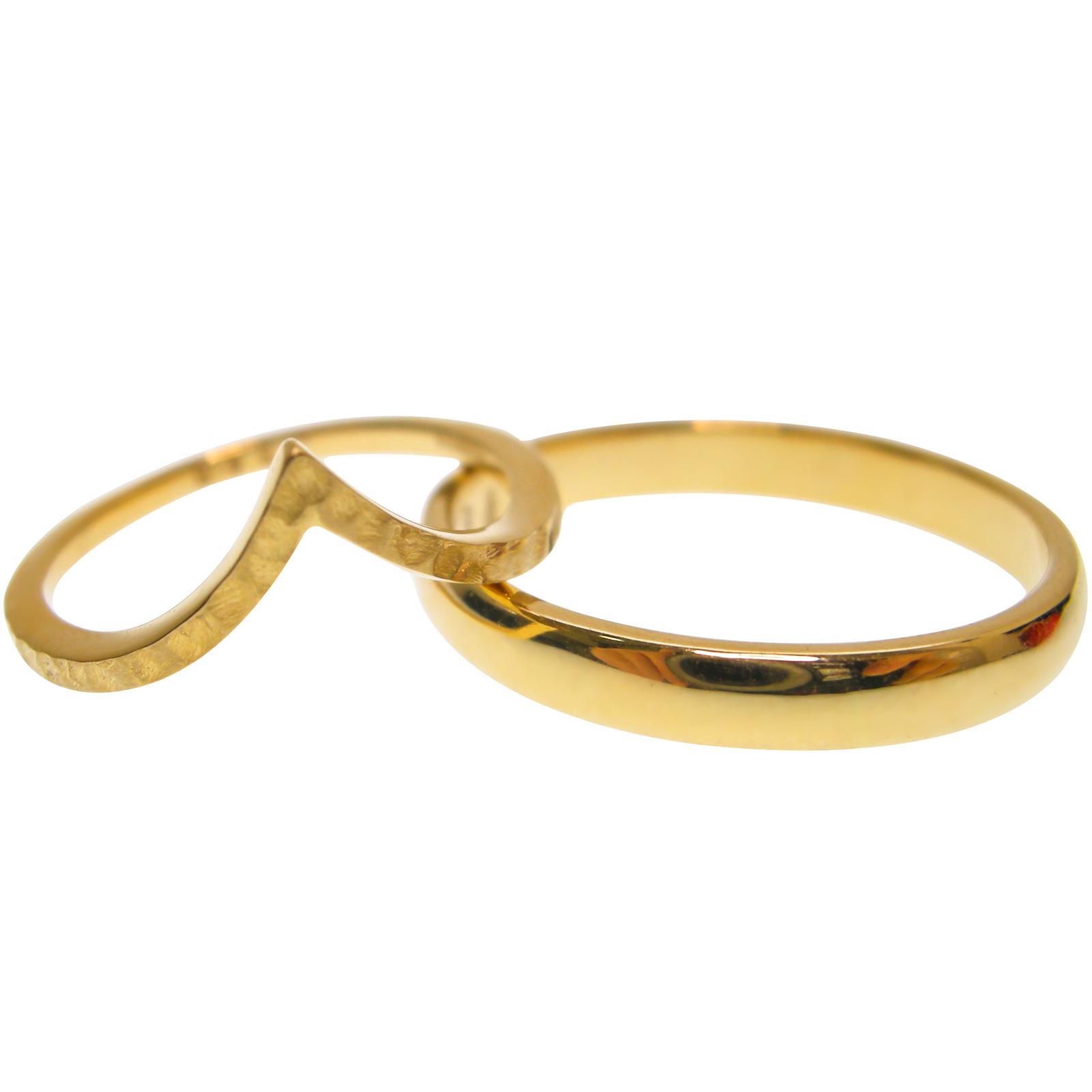 YELLOW GOLD WEDDING BAND SET BESPOKE FINE JEWELLERY BY SHAHINA HATTA