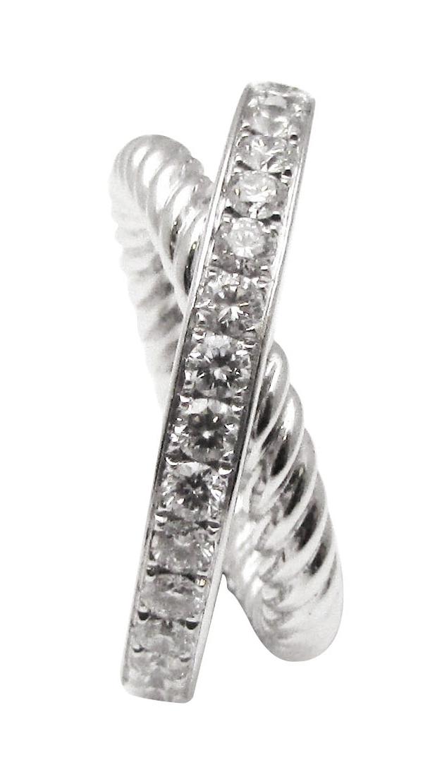 DIAMOND AND PLATINUM ROPE ENTERTWINED RING BESPOKE FINE JEWELLERY BY SHAHINA HATTA