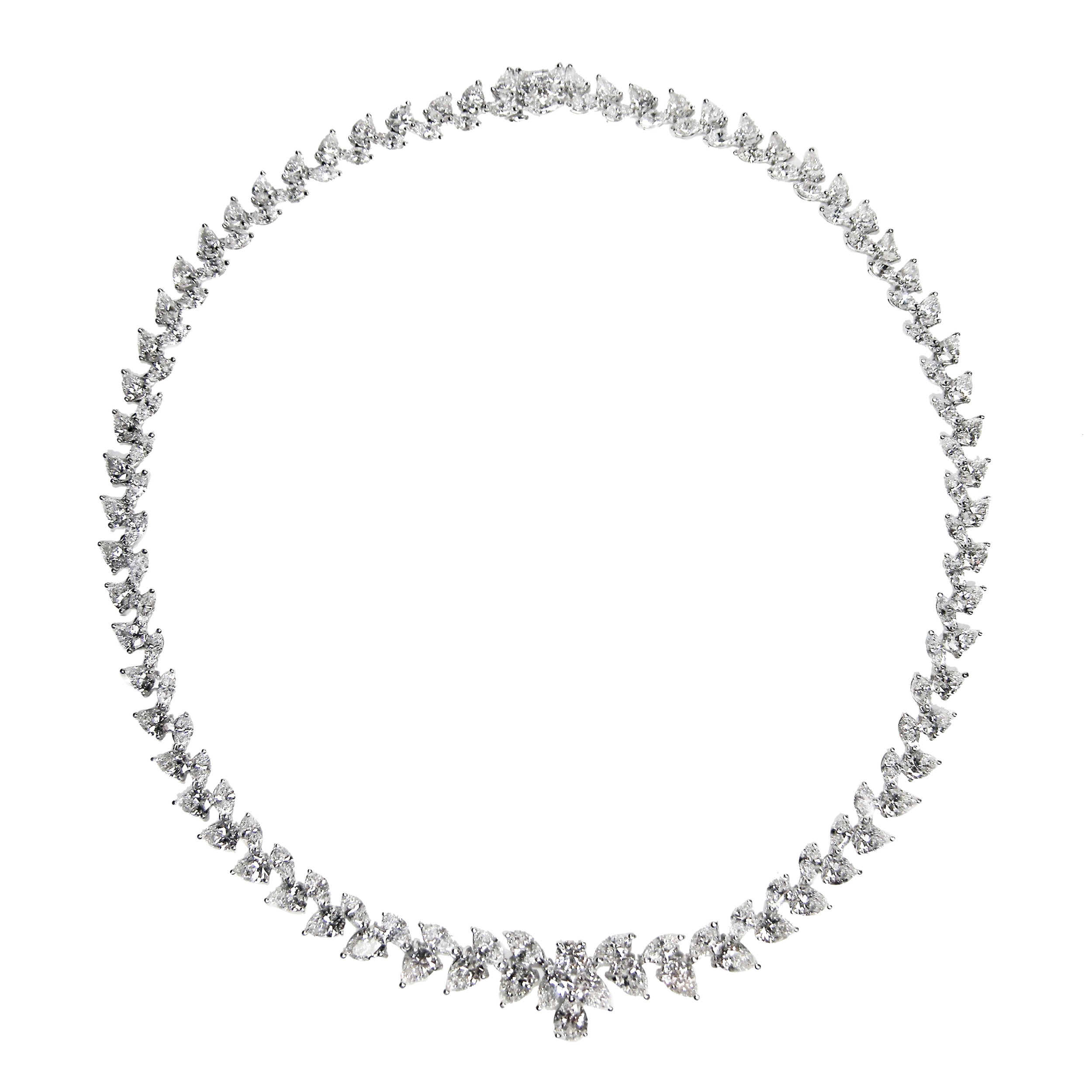 VINE DIAMOND NECKLACE BESPOKE FINE JEWELLERY BY SHAHINA HATTA