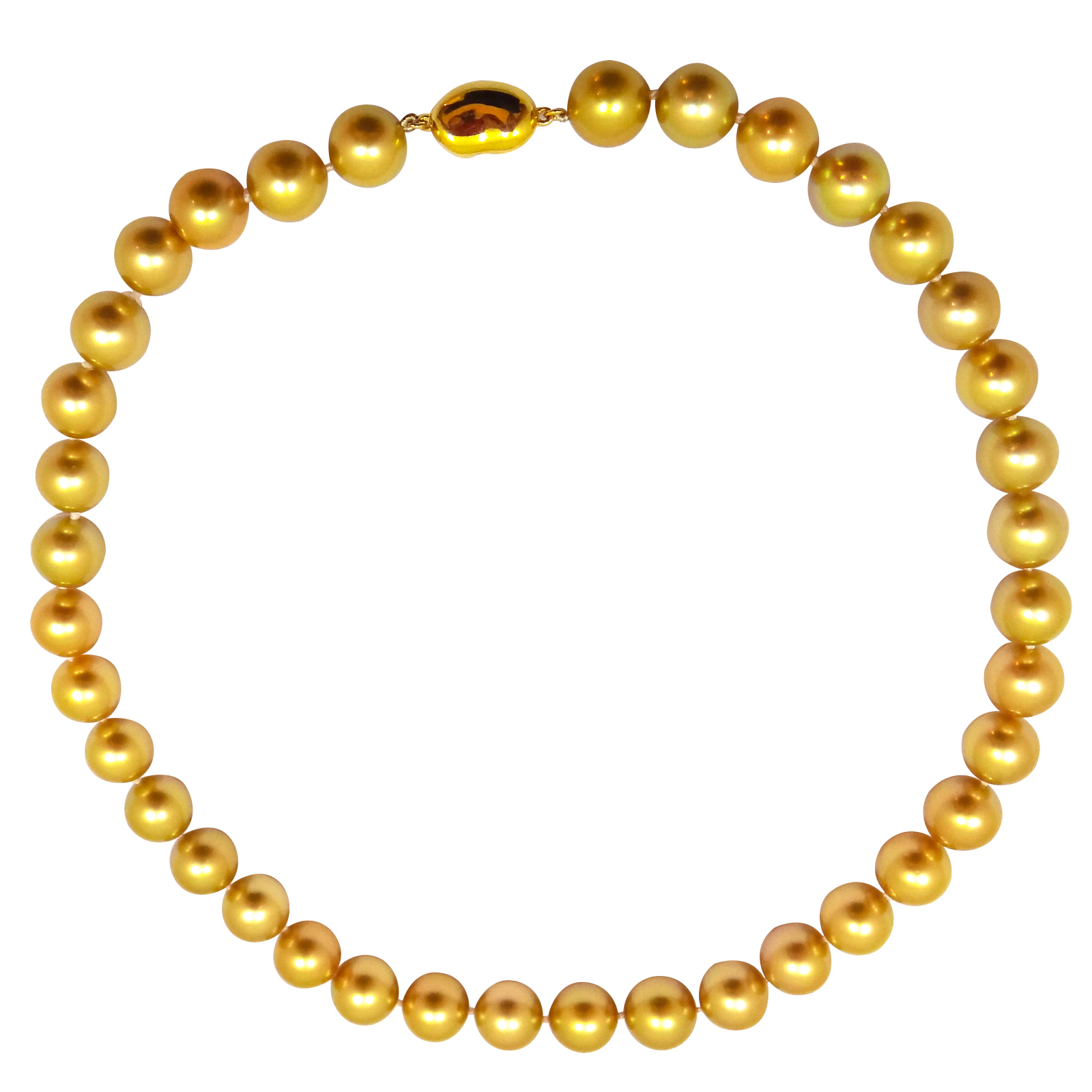 SOUTH SEA GOLDEN PEARL STRAND NECKLACE BESPOKE FINE JEWELLERY BY SHAHINA HATTA
