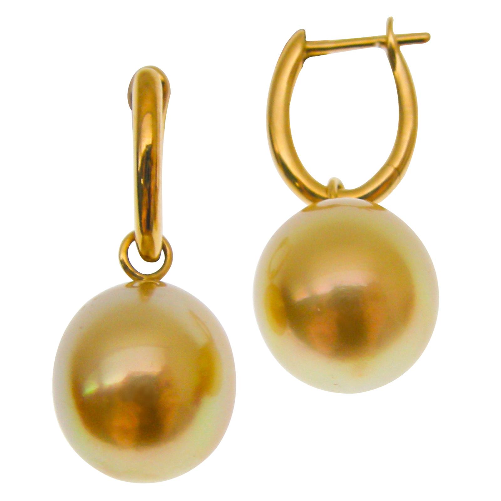 SOUTH SEA GOLDEN PEARL HUGGIE EARRINGS CLUSTER DIAMOND PENDANT BESPOKE FINE JEWELLERY BY SHAHINA HATTA