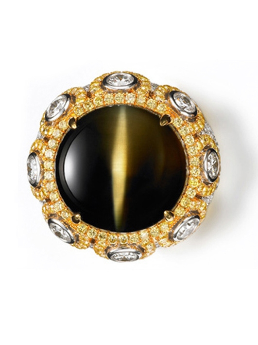 CAT'S EYE & DIAMOND RING BESPOKE FINE JEWELLERY BY SHAHINA HATTA
