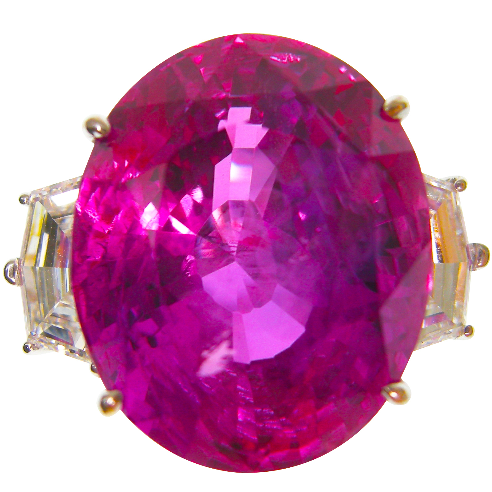 PINK SAPPHIRE & DIAMOND RING BESPOKE FINE JEWELLERY BY SHAHINA HATTA HONG KONG