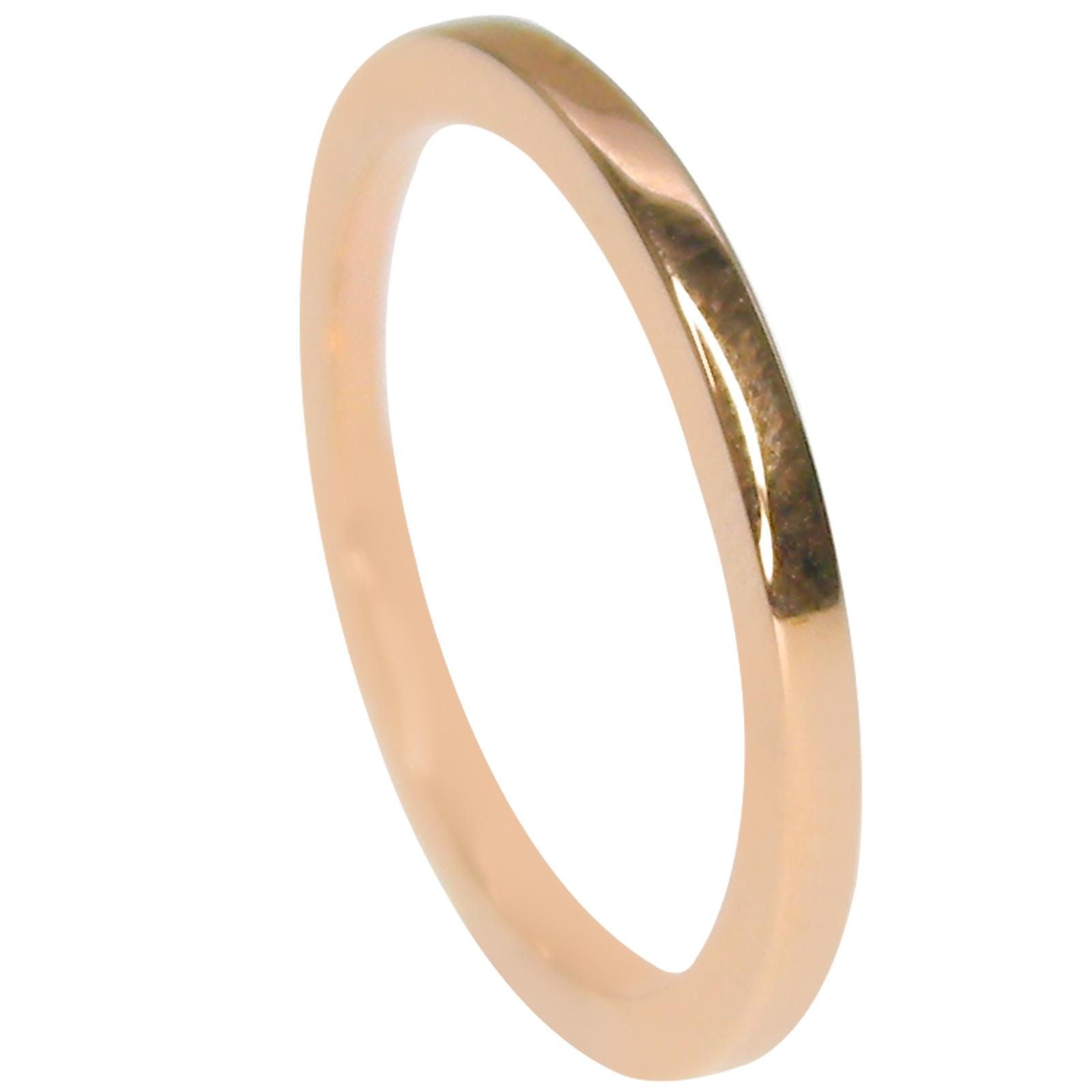 18K ROSE GOLD WEDDING BAND 1.5 mm