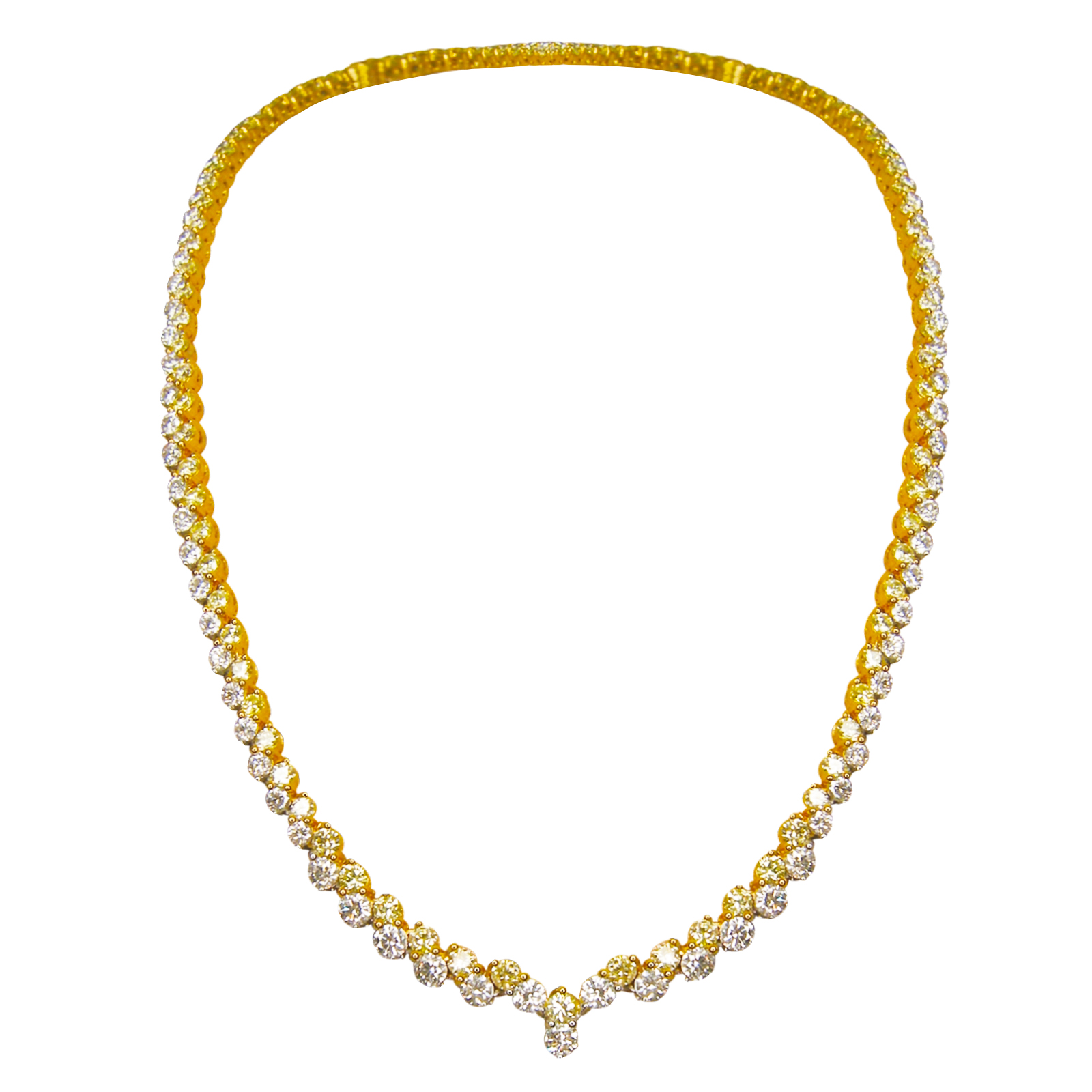 CANARY DIAMOND TENNIS NECKLACE