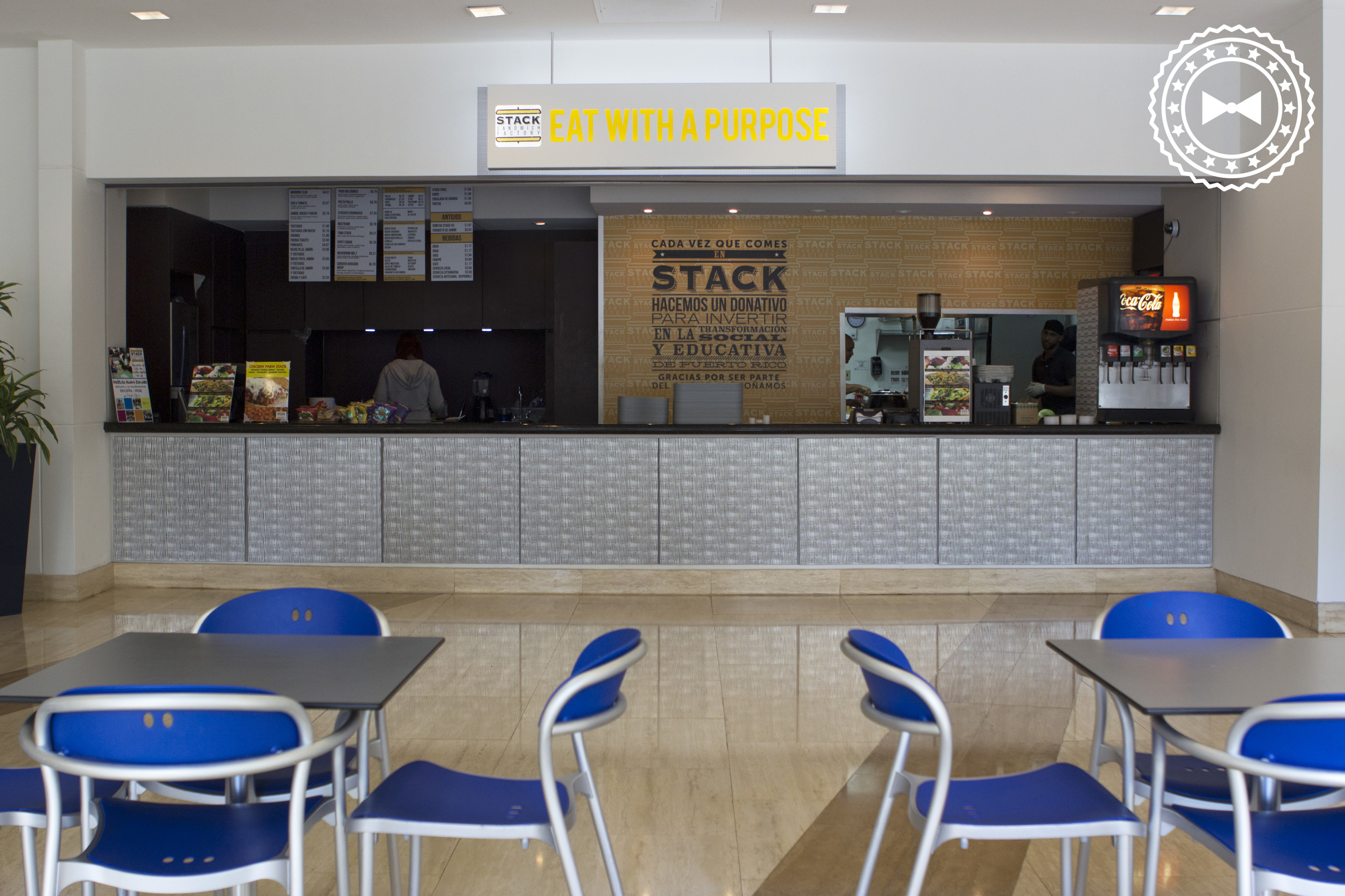 Establecimiento de Stack Sandwich Factory, Popular Center, Hato Rey.