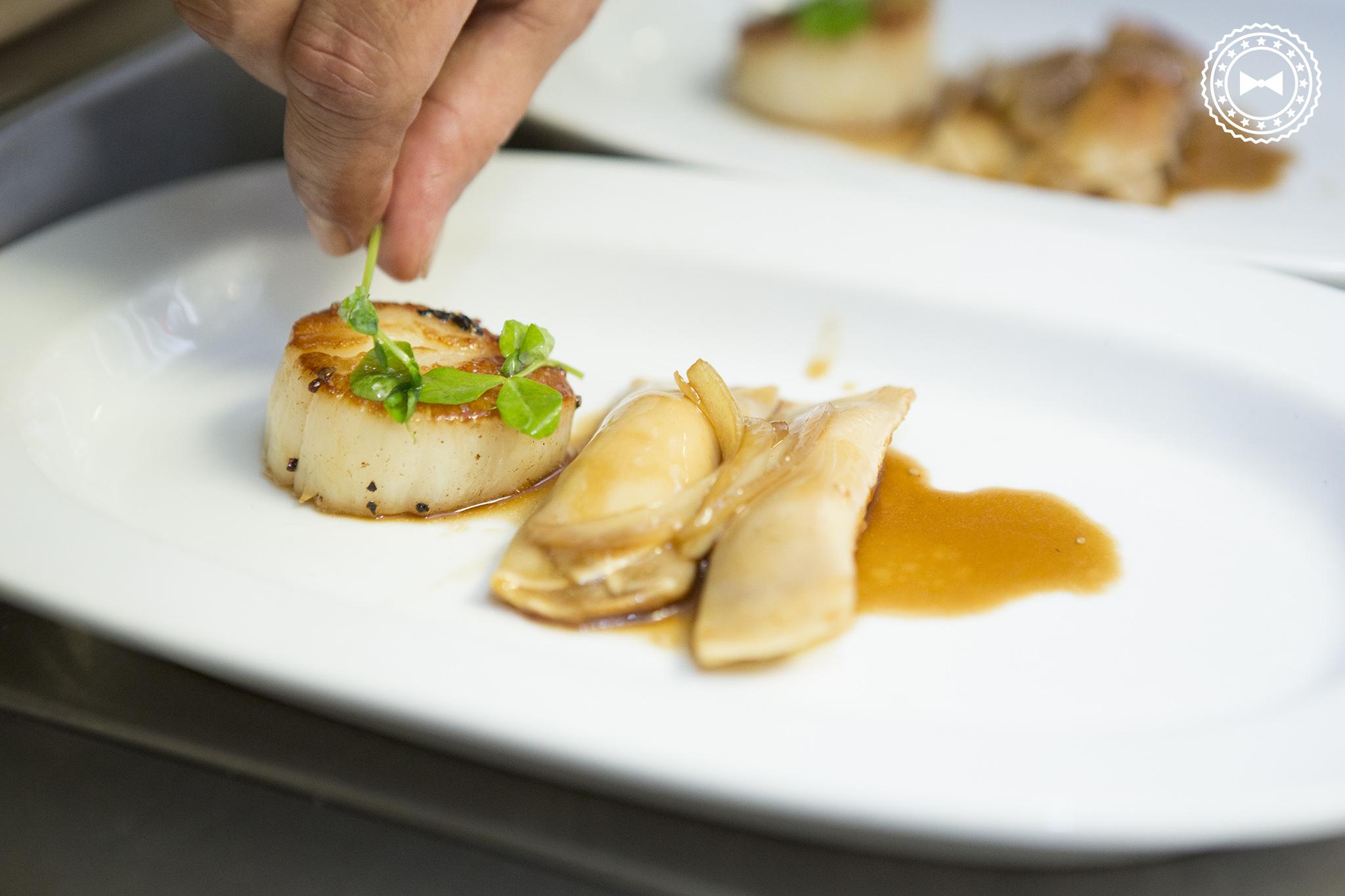 Vieiras y Dumplings de Foie Gras