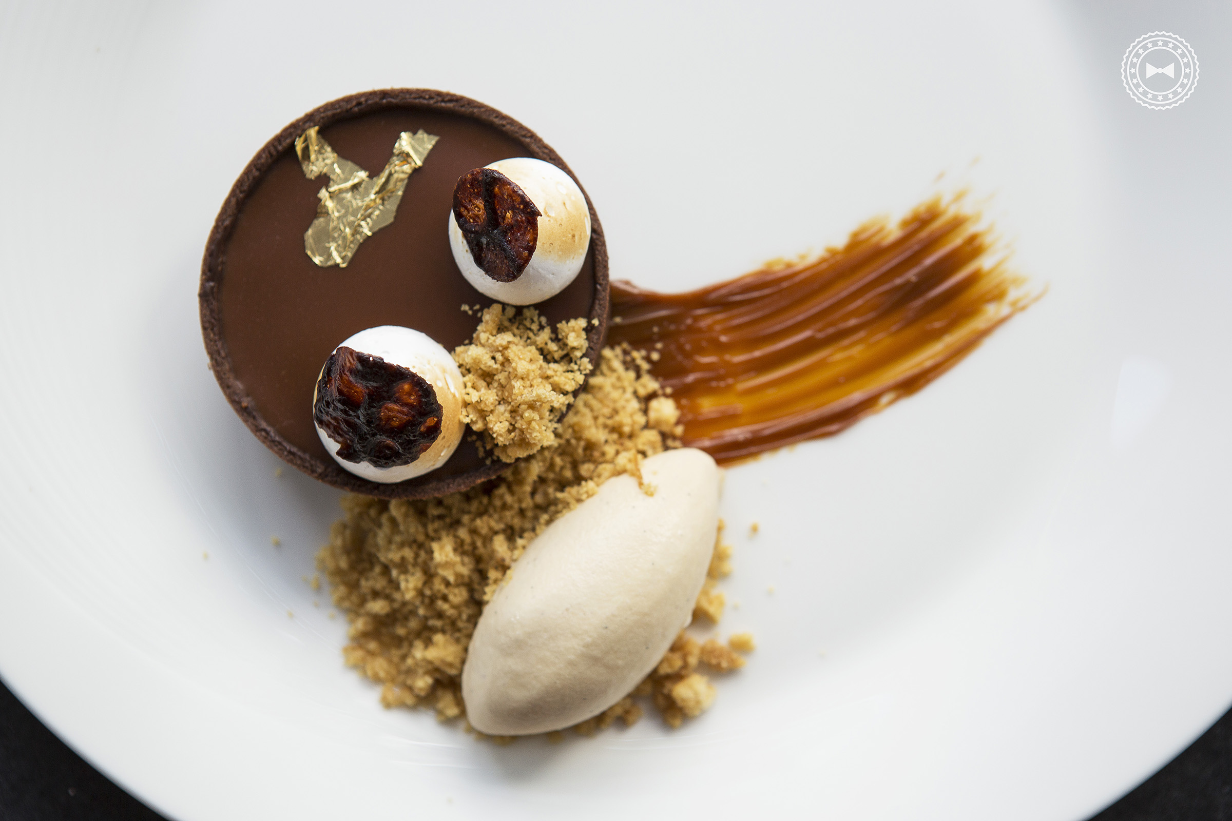 Milk Chocolate Tart • Chicharrón