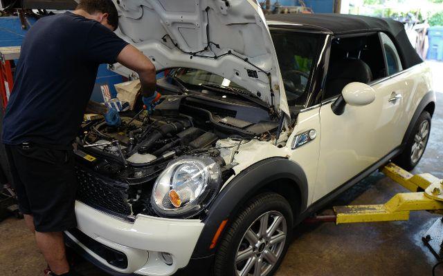 2012 MINI Cooper S oil service & check engine light diagnosis