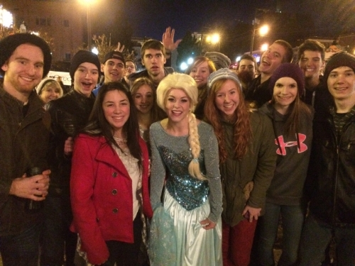 The snow Queen and friends on december 7, 2014