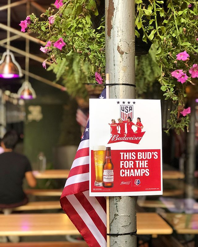 We're gearing up for tomorrow's #parade! How about you? .  Congratulations to the @uswnt on the World Cup Win! We love and support you here at Maxwell's! .  Come in for a drink and show your support as well. . BUCKETS OF BEER 5 FOR $20 (includes bud, bud light, coors light, Miller high life and Michelob ultra) BLOODY MARY'S * MIMOSAS ** BURGERS *** FRENCH FRIES **** . . What more convincing do you need? ;) . . . . . . #uswntparade #uswnt #uswntsoccer #uswntparade🇺🇸🗽🏆 #budweiser #summer #summerday #summerdrinks #summerbar #outdoorseating #outdoorseatingarea #outdoorseatingnyc #irishpub #oldbar #oldwoodenbar