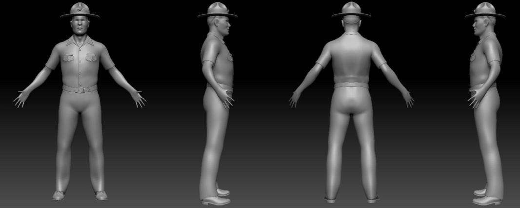 3D build of the Drill Sergeant