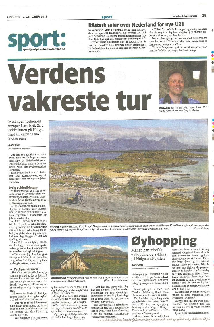 Intervju Helgeland Arbeiderblad 17okt2012