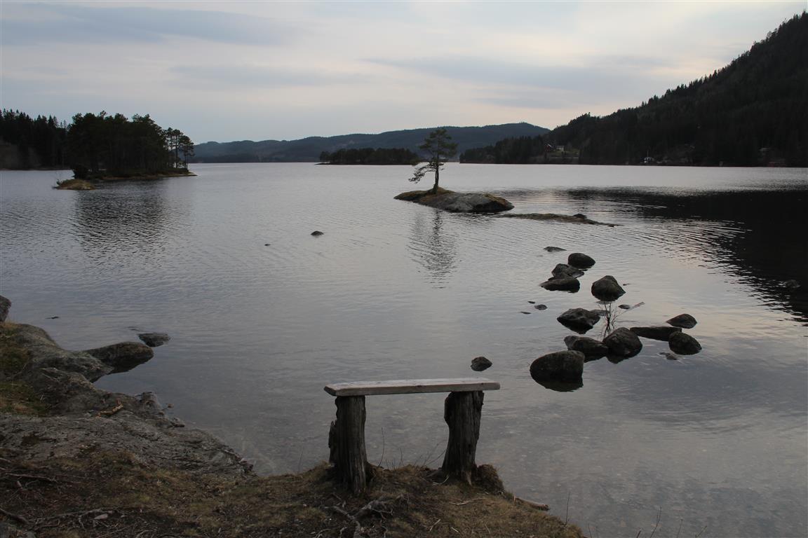 En pust i bakken ved innsjøen Ånøya.