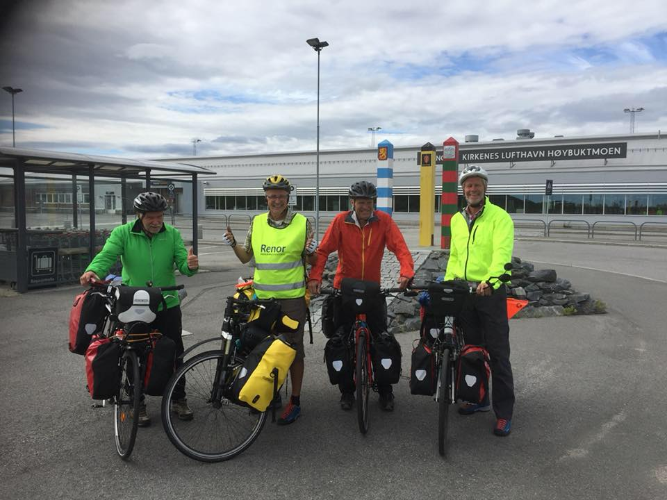 Alle i reisefølget er klare for å sykle Norge på langs. Alle foto: Privat.