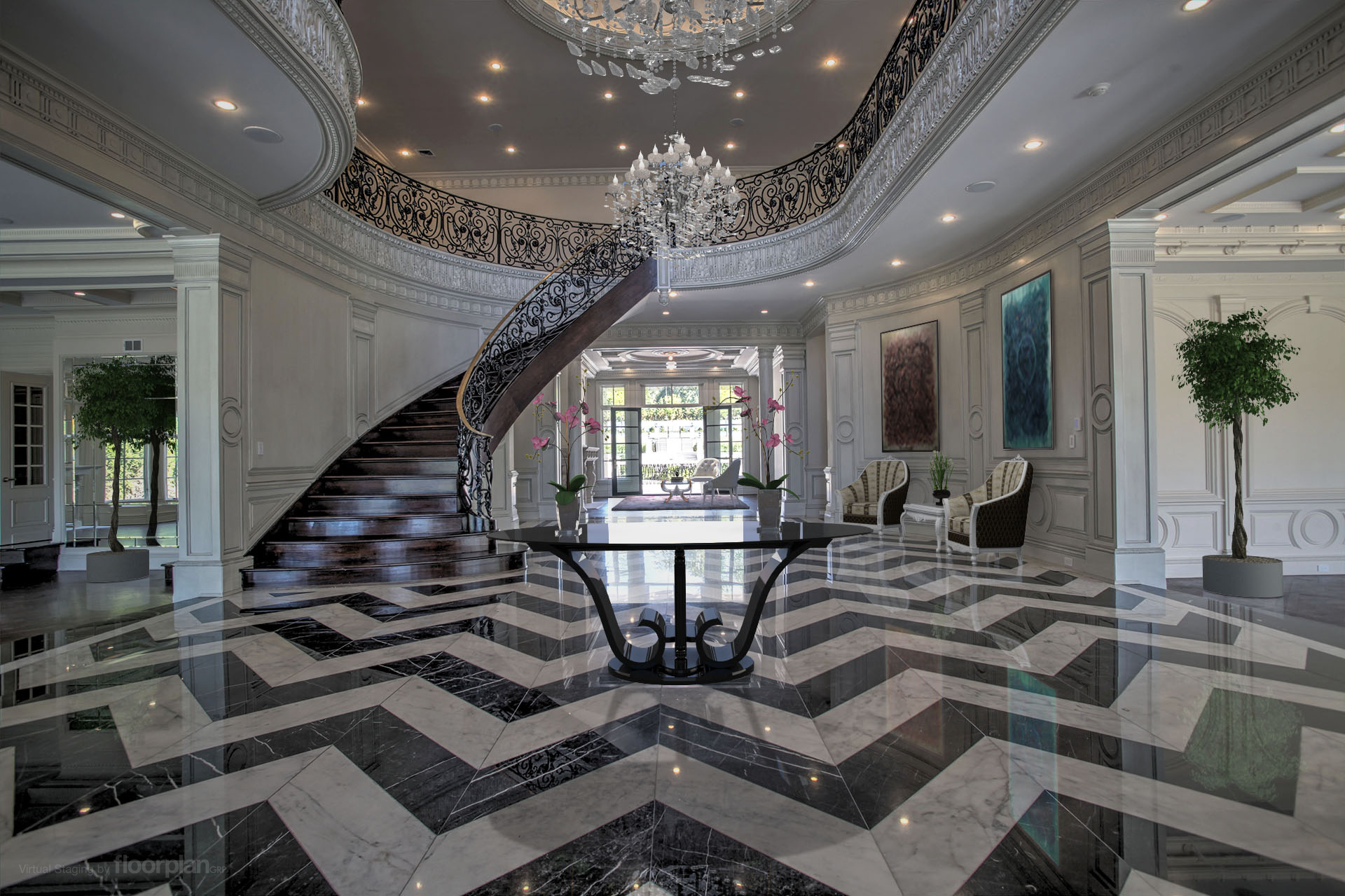 Virtually Staged Image of 15 Dupont Circle Foyer