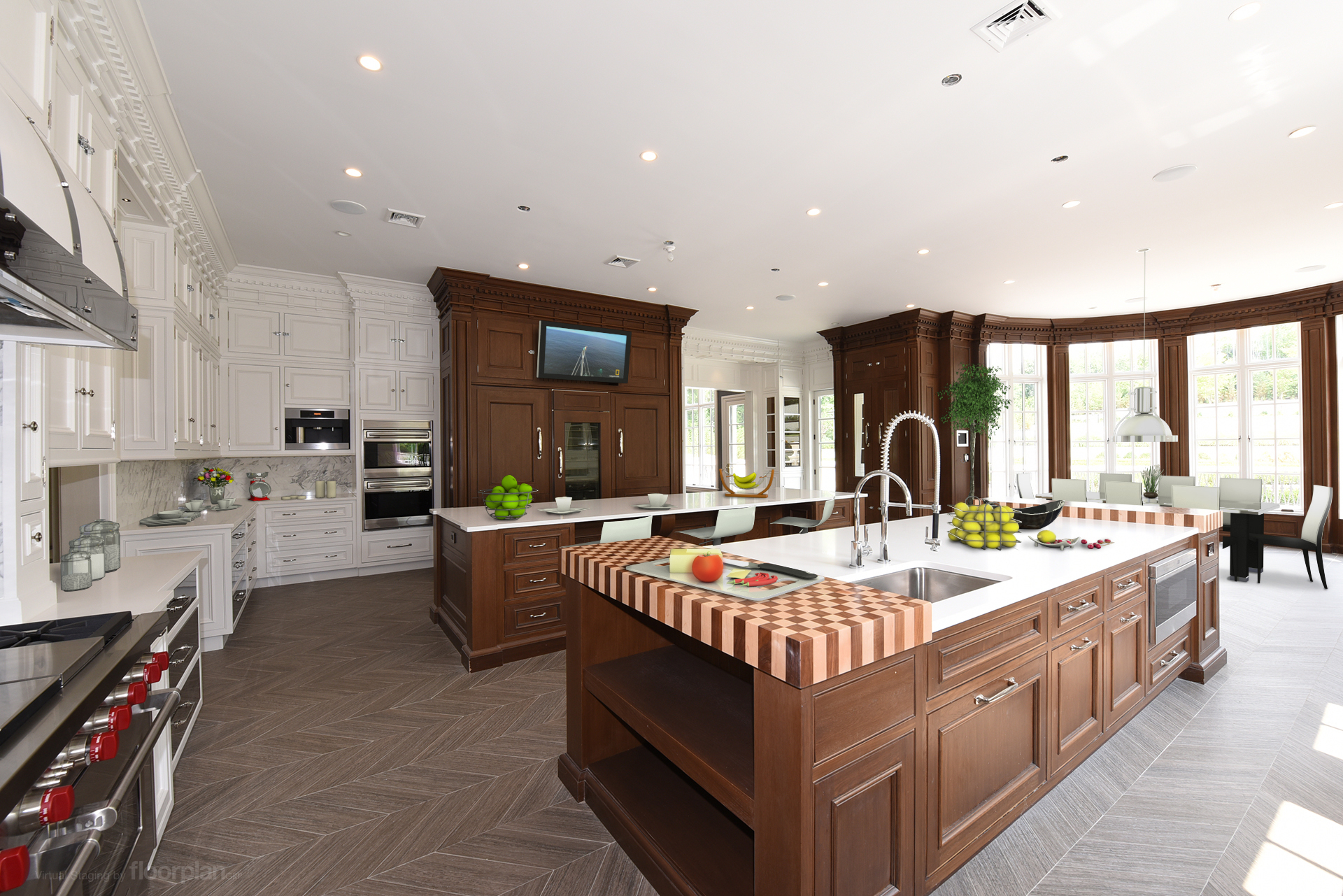 Virtually Staged Image of 15 Dupont Circle Kitchen